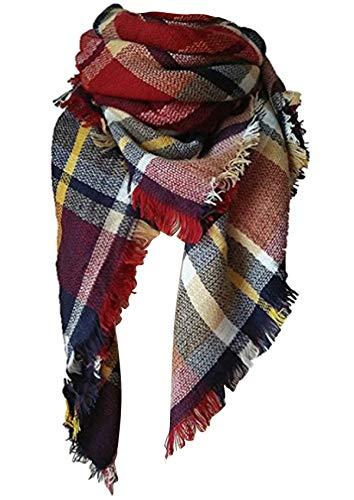 Lanzom Large Tartan Fashion Women Warm Blanket Scarf Lovely Wrap Shawl (Color 5)