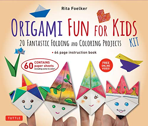 Origami Fun for Kids Kit: 20 Fantastic Folding and Coloring Projects: Kit with Origami Book, Fun & Easy Projects, 60 Origami Papers and Instructional Videos