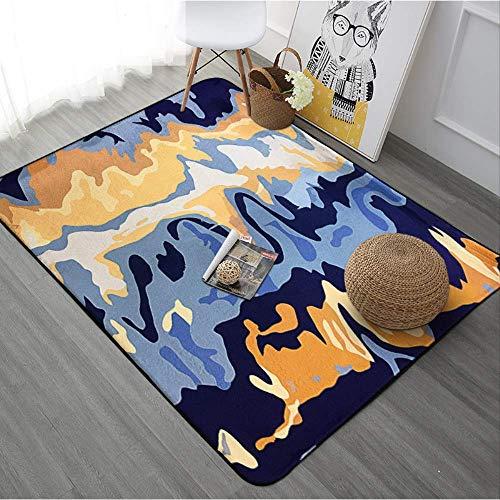 JUNYYANG Manta Suave Manta de área de Cubierta de alfombras Mat geométrico Moderno Dormitorio Completo de alfombras Alfombra de la Sala Mesa de Sofá la Estera del Piso de cabecera