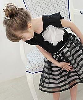 韓国子供服 ショコラシリーズ レナワンピース(コサージュ2wayブローチヘアピンセット)