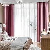 WBXZAL Cortinas Opacas de Algodón y Lino, Cortinas Modernas de Color Sólido para Sala de Estar Dormitorio Balcón, Aislamiento Térmico, Cortinas Personalizables, 2 Piezas-2.5 * 2.7M * 2_C-Ojales