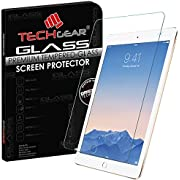 TECHGEAR Screen Protector for iPad 6, iPad Air 2- GLASS Edition Genuine Tempered Glass Screen Protector Guard Cover Compatible with Apple iPad 6th Gen