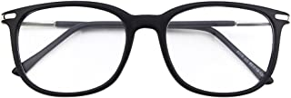 Happy Store CN79 High Fashion Metal Temple Horn Rimmed Clear Lens Eye Glasses