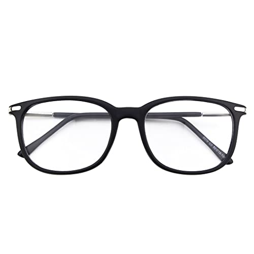 22d869f384 Happy Store CN79 High Fashion Metal Temple Horn Rimmed Clear Lens Eye  Glasses