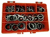 Premium Self Centralising Bonded/Dowty Seal Washers Imperial Sizes In Kit Form Made Of High Grade Steel Containing 7 Popular Sizes For Engineers, Electricians, Mechanics & DIY Use.