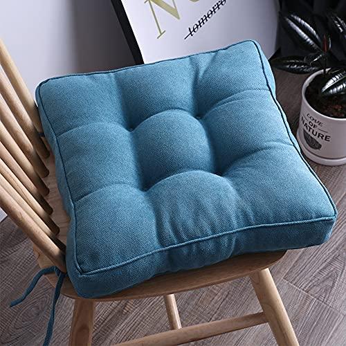 Cojín de asiento para silla con lazos, cojín para silla de comedor, jardín, cojines de 10 cm de grosor, cojín antideslizante para asiento de patio al aire libre 40/45/50 cm