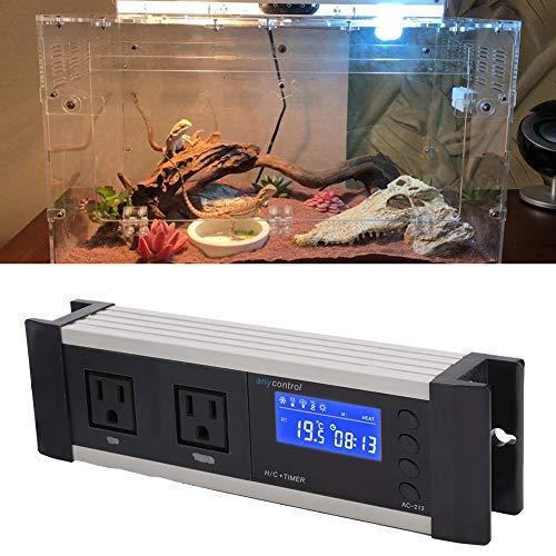 Temperatur-Feuchtigkeitsregler, Aquarium-Inkubator-Digital-Thermostat für Reptilienzuchtbox Einsiedlerkrebs-Schlangenechse(220V EU Stecker)