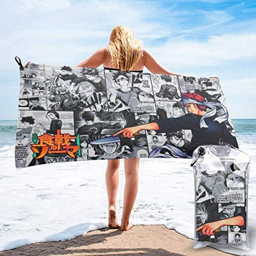 RTRTRT Food Wars Soma - Toalla de playa de secado rápido de microfibra de 28 x 55 pulgadas, toalla súper absorbente, toalla sin arena, para niños, adolescentes, adultos, viajes, gimnasio, camping, pis