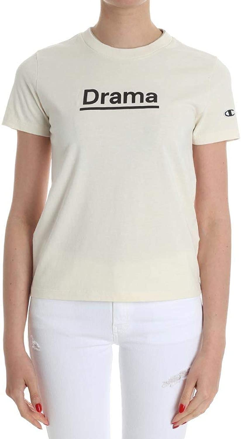 Champion X Wood Wood Women's 110718YS024PRST Beige Cotton TShirt