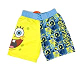 Spongebob Squarepants Big Face Boardshorts X-Small Blue/Yellow
