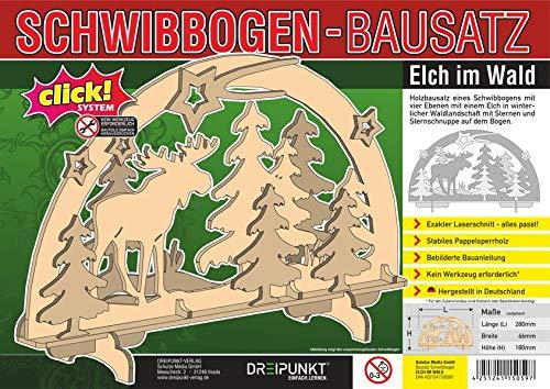 Bausatz Schwibbogen 'Elch': Detaillierter Holz-Modellbausatz für einen traditionellen Schwibbogen.