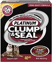 ARM & HAMMER Clump & Seal Platinum Cat Litter, Multi-Cat, 40 lb
