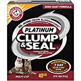 ARM & HAMMER Clump & Seal Platinum Cat Litter, Multi-Cat, 40...