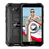 Ulefone Armor X6 5.0' IP68 Smartphone impermeabile Android 9.0 MT6580 Cellulare Quad Core 2GB 16GB 3G 4000mAh 8MP Cellulare - Nero