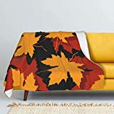 Manta de lana de cordero de Waterfall and River Park, manta de piel de zorro plateado, manta de felpa ultrasuave para sofá cama