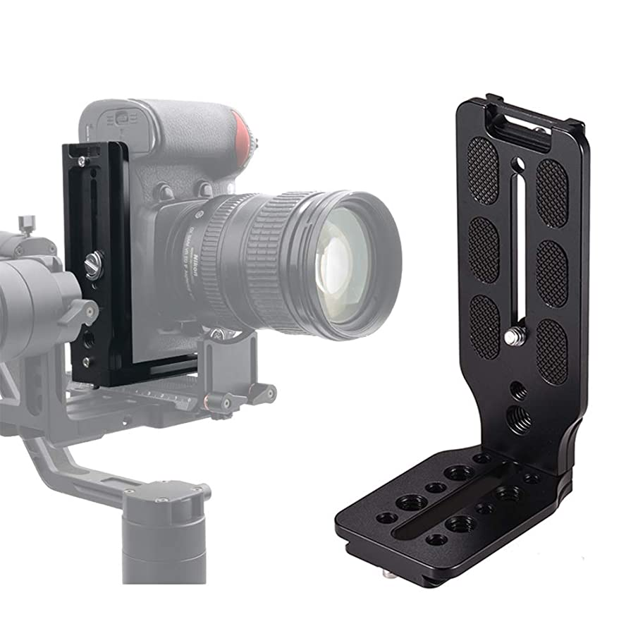 L Shape Bracket Quick Release Plate Vertical Video Shooting Universal DSLR Camera L Bracket with 1/4 Inch Screw Arca Swiss for Manfrotto DJI Osmo Ronin Zhiyun Canon Nikon Sony DSLR Camera by WEIHE