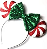 CLGIFT Red peppermint Minnie ears, Peppermint...
