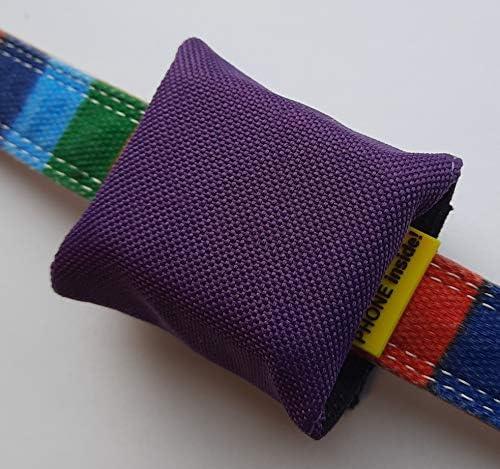josili Trackertas voor GPSzender 51 x 41 x 15 mm hoogwaardig zeildoek in vele kleuren tot 50 mm halsbandbreedte lila