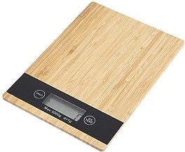 ميزان مطبخ رقمي للوزن مصنوع من الخيزران– لون بيج، مقاس 16 سم