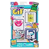 OH! MY GIF 3 Bit Toy Pack - Puggo & Heartie Collectable Real Life Animated Figures Plus Mystery Toy & GIF Download