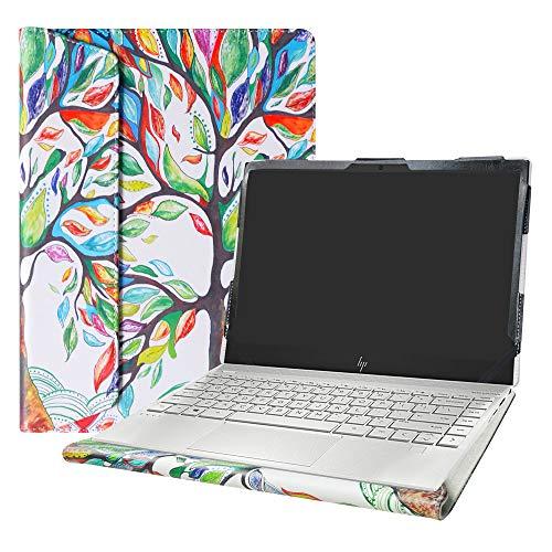 "Alapmk Diseñado Especialmente La Funda Protectora de Cuero de PU para 13.3"" HP Envy 13 13-aqXXXX Ordenador portátil(Not fit HP Envy 13 13-ahXXXX 13-adXXX 13-abXXX),Love Tree"
