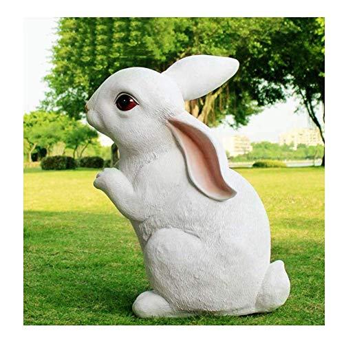 LIUSHI Escultura Animal de la Estatua del jardn, Conejo de Resina Hace Manualidades decoracin del Partido de Pascua apoyos decoracin de la Familia