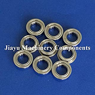 Fevas 50 PCS SMF148ZZ Flanged Bearings 8x14x4 mm Stainless Steel Flange Ball Bearings DDLF-1480ZZ