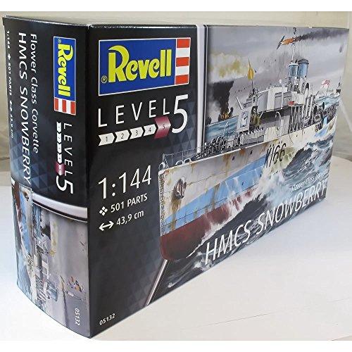 Revell Modellbausatz Schiff 1:144 - Flower Class Corvette HMCS SNOWBERRY im Maßstab 1:144, Level 5, originalgetreue Nachbildung mit vielen Details, 05132