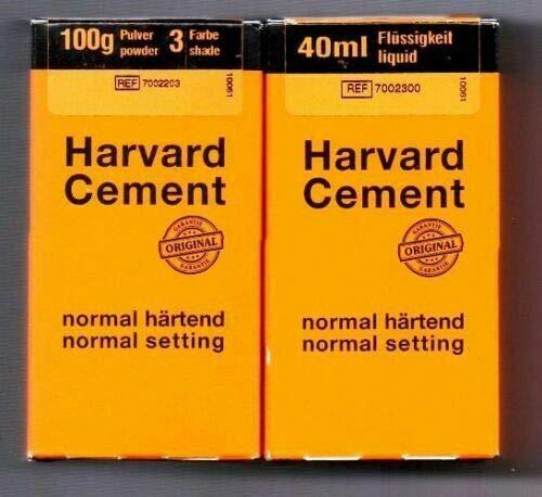 Cemento dentale Harvard Cement per ponti corone definitivo Polvere + Liquido