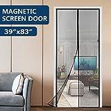 KINCMAX Hands Free Magnetic Screen Door, Upgraded Fiberglass Heavy Duty Quick Screen Door Mesh Curtain with Full Frame...