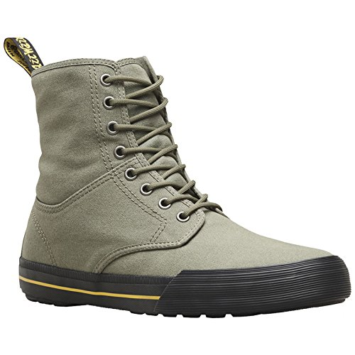 Dr. Martens Womens Winsted 8-Eyelet Dark Taupe Canvas Boots 40 EU