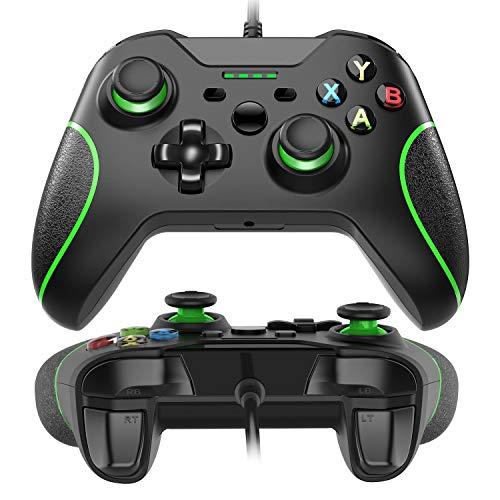 Xbox One Controller di Gioco con Luce a LED, Wired Gamepad Controller per Windows 7/8/10, XBOX ONE, PC, TV Box Joystick Android Joypad Doppio Impatto Vibratorio Progettato Ergonomicamente