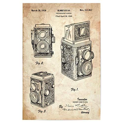 artboxONE Poster 30x20 cm Reise Retro Kamera III (Antik) - Bild antike fotoapparat fotoapparat Kamera