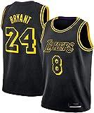 lcc Kobe Bryant Jersey 24 Uniformes de Baloncesto #24 Swingman Jersey Retro Basketball Jerseys de Verano Fan Shirt Chaleco sin Mangas Ropa Deportiva Transpirable (Negro, M)