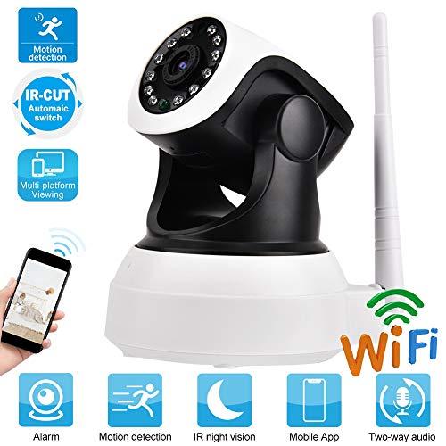 Babyfoon, nachtzicht infrarood babyfoon camera 1920 * 1080 HD WiFi bewakingscamera voor thuis tweeweg spraakintercom, infrarood nachtzichtfunctie, APP-afstandsbediening (EU-stekker)