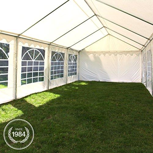 TOOLPORT Party-Zelt Festzelt 4x8 m Garten-Pavillon -Zelt ca. 500g/m² PVC Plane in weiß Wasserdicht - 9