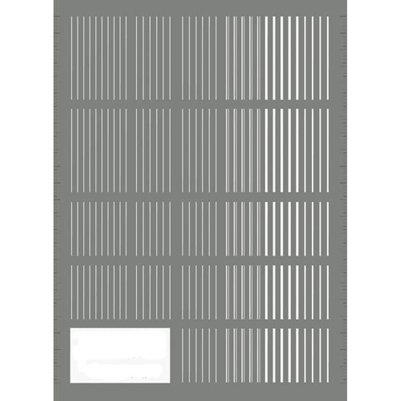 人種欠陥ラベツメキラ(TSUMEKIRA) ネイル用シール ピンストライプ ホワイト NN-PIN-101