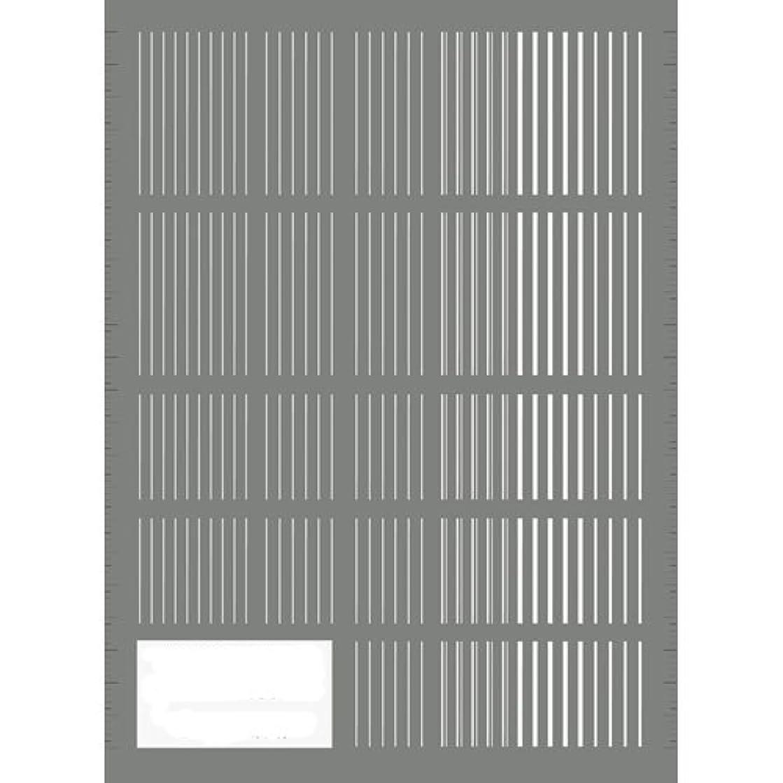 爆風鼓舞する薬理学ツメキラ(TSUMEKIRA) ネイル用シール ピンストライプ ホワイト NN-PIN-101