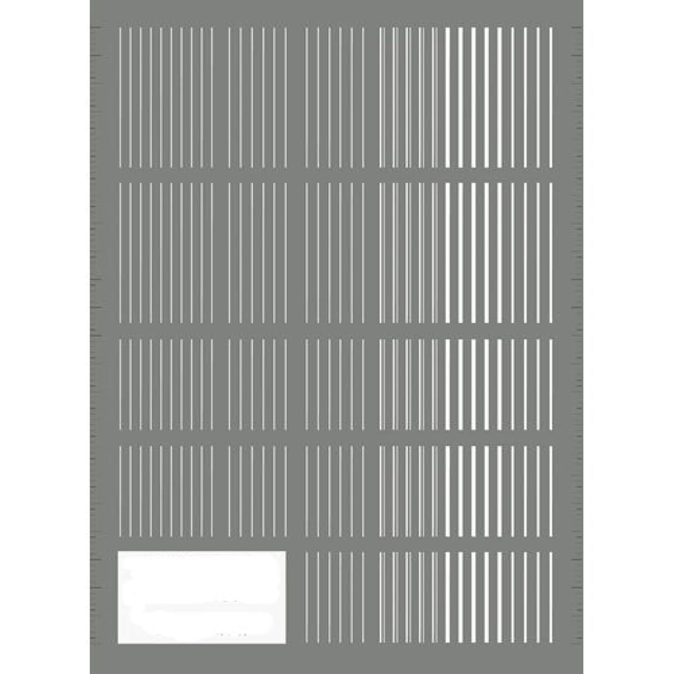 サンドイッチニコチンペストリーツメキラ(TSUMEKIRA) ネイル用シール ピンストライプ ホワイト NN-PIN-101