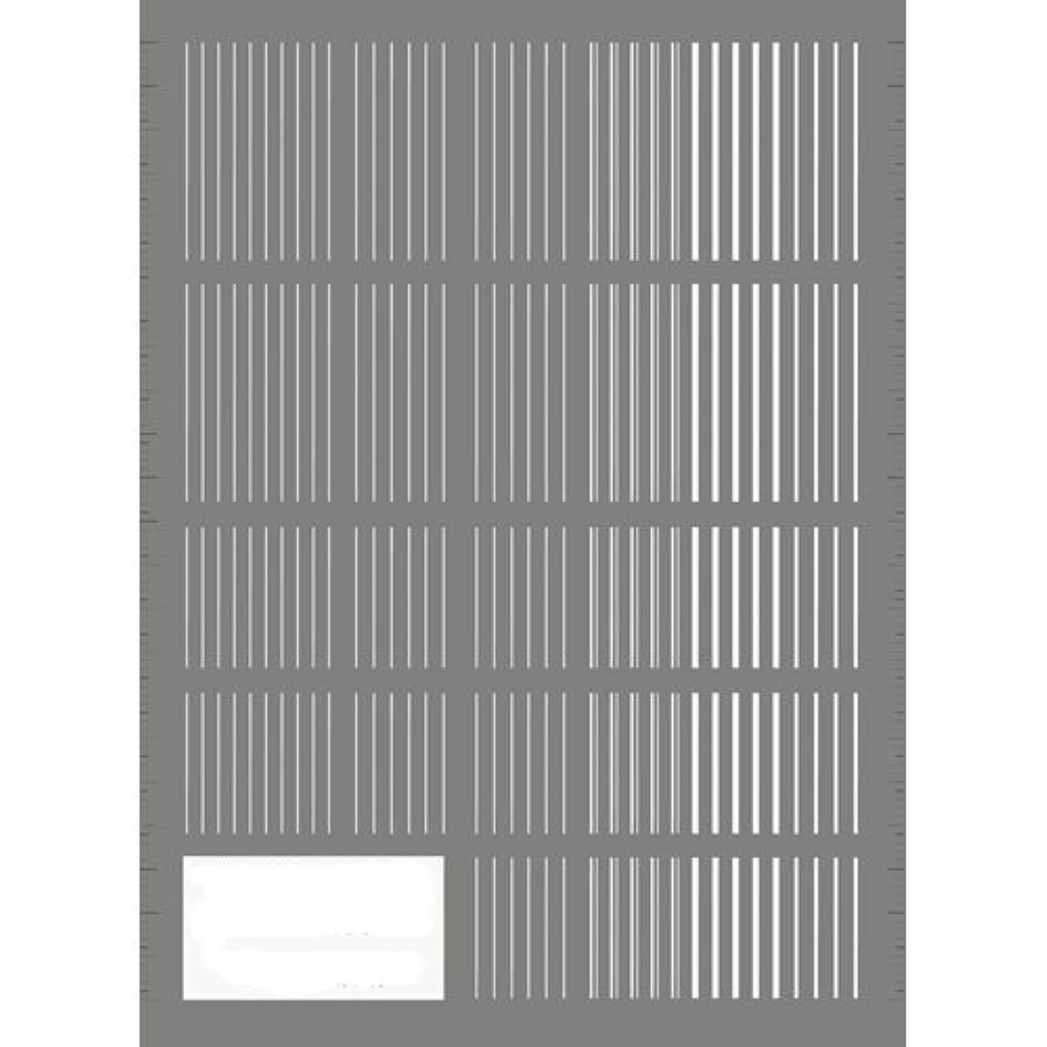 位置するジュラシックパークカプセルツメキラ(TSUMEKIRA) ネイル用シール ピンストライプ ホワイト NN-PIN-101