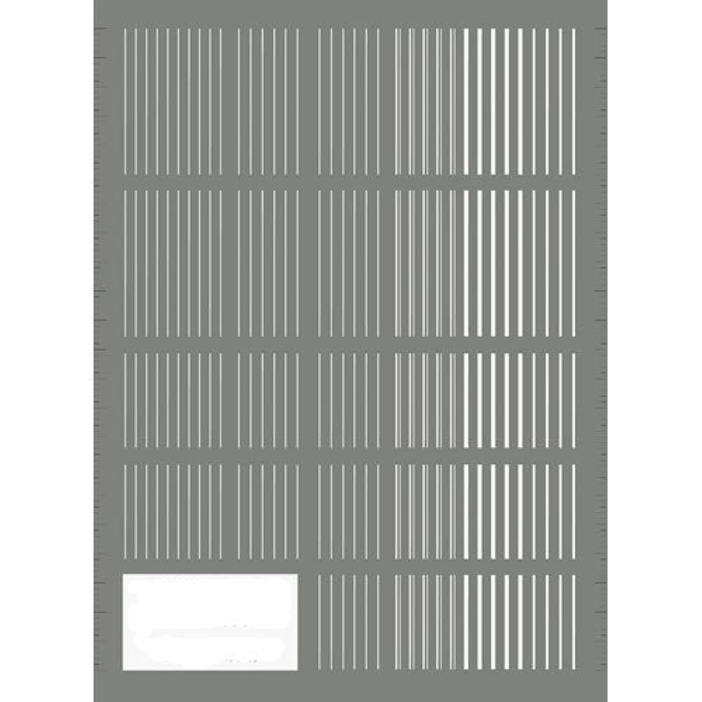 ツメキラ(TSUMEKIRA) ネイル用シール ピンストライプ ホワイト NN-PIN-101