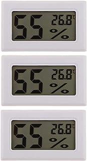 B Baosity 3 x inbyggd termometer hygrometer kylskåp temperatur fuktighetsmätare vit