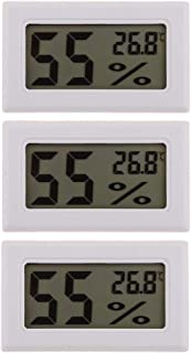 kowaku 3 Pieces Mini LCD Digital Temperature Meter Humidity Hygrometer FY-11