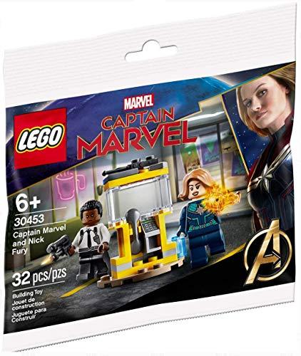 LEGO Super Heroes Capitán Marvel and Nick Fury 30453 - Juego de bolsas de plástico