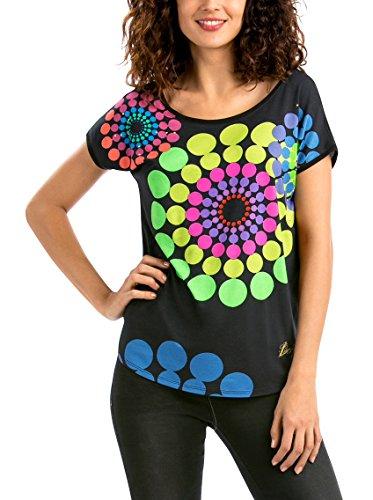 Desigual TS_GENRI, Camiseta Para Mujer, Negro (Negro 2000), 38 (Talla fabricante: S)