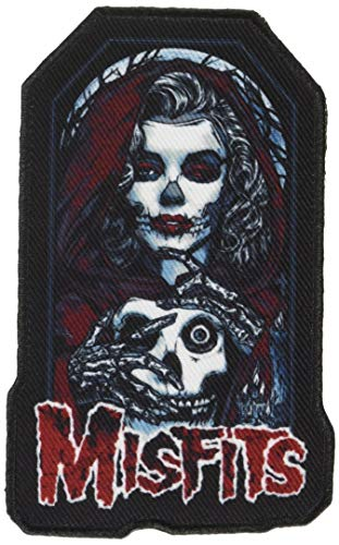 """Misfits Unmasked, Officially Licensed, Iron-On/Sew-On, Embroidered Patch - 2.5"""" x 4.3"""""""