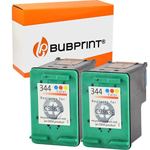 Bubprint 2 Cartouches d'encre Compatible pour HP 344 HP344 pour Deskjet 5740 6500 9800 Officejet 100 150 Mobile K7100 H470 Photosmart 335 8050 8450 Color