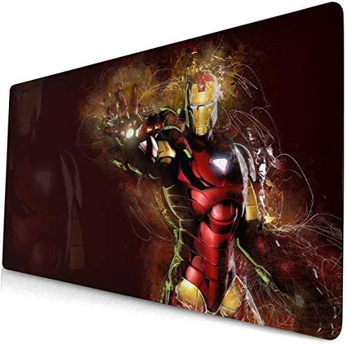 Avengers Mouse pad Anime Game Mouse pad Large Desk pad Keyboard pad Computer Desk pad Office Mouse pad Captain America Thor Spider-Man Black Widow Hulk Iron Man Mouse pad Desktop pad Table Mats 96