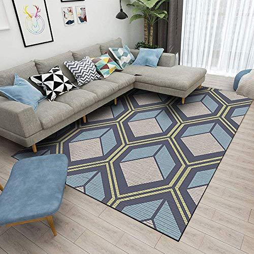 Teppich Hauptdekoration Herr der Teppiche Hohe Qualität Moderne Geometrische Umrandet Klassische rechteckige Design Weiche für Wohnzimmer sofa Schlafzimmer zum Entspannen Lesen Multi Farben Teppich (1