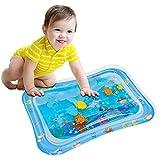 Wassermatte Baby, OUTOPE Baby Spielzeuge 3-6-9 Monate, Baby Wassermatte Perfektes Sensorisches Spielzeug, Wasser-Spielmatte Baby, Aufblasbarer Kinderwasserpark (66x50cm)